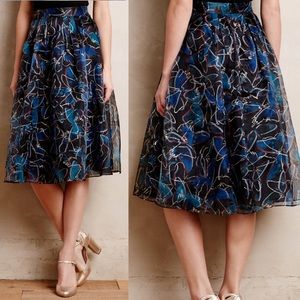 Anthropologie Moulinette Soeurs Butterly Skirt
